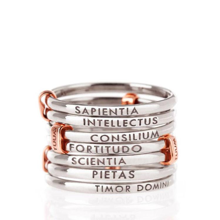 Immagine di Anello Tuum Settedoni in Argento e Oro Rosa | DONIL090C0R