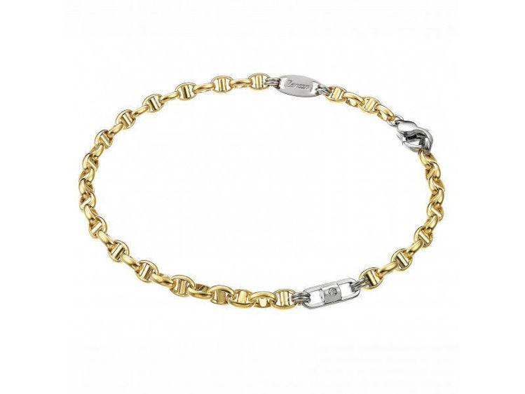 Immagine di Bracciale Zancan Insigna in oro giallo e oro bianco con diamante EB549BG