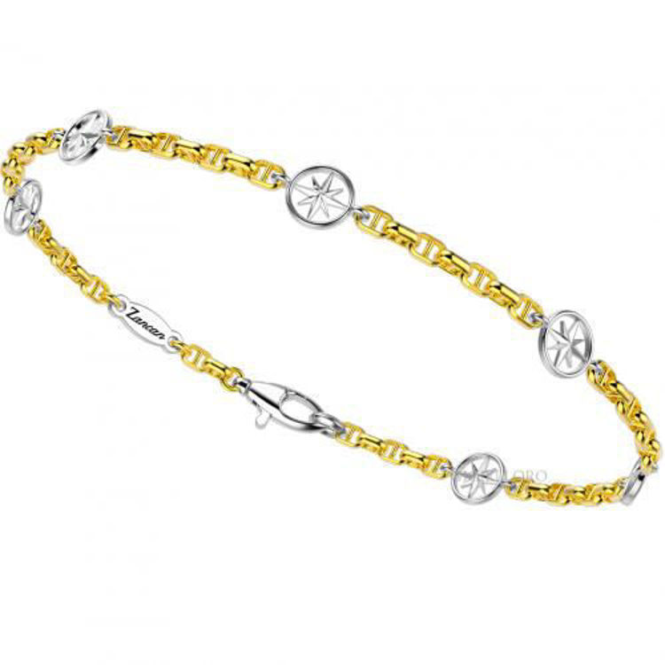 Immagine di Bracciale Zancan Insigna in Oro Giallo e Oro Bianco EB692GB