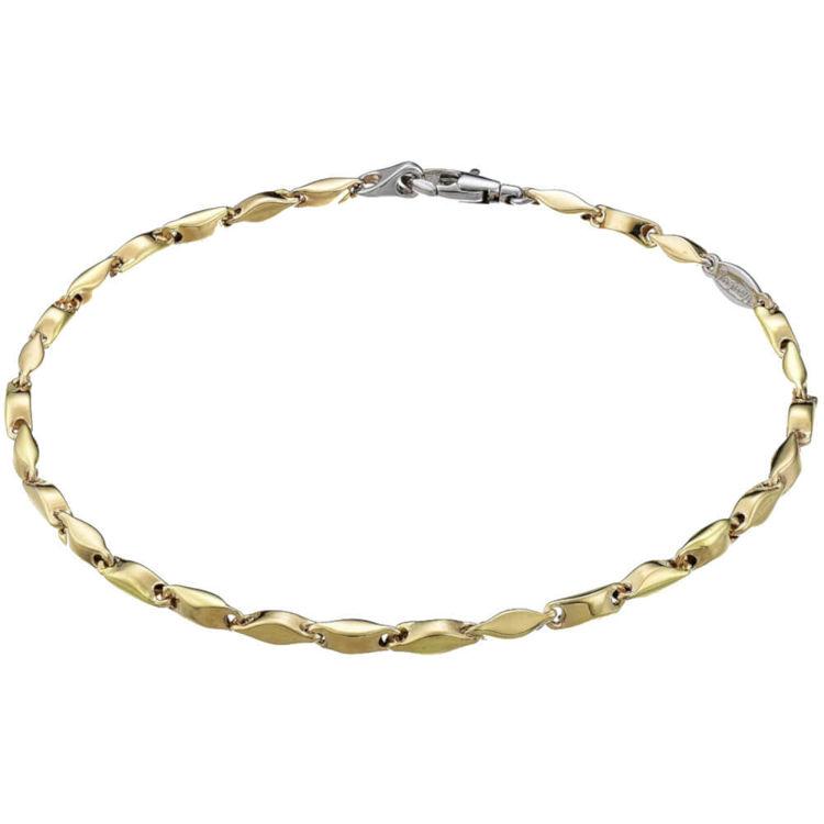 Immagine di Bracciale Zancan in Oro Giallo e Dettagli Oro Bianco EB552GB