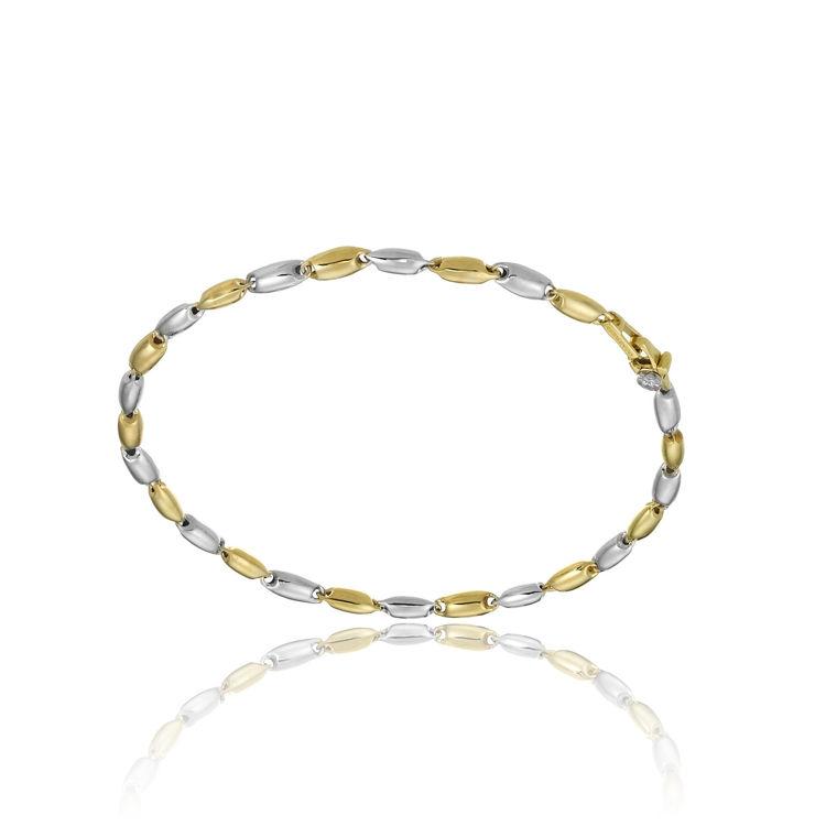 Immagine di Bracciale Chimento in Oro Giallo e Oro Bianco 1B05314ZB2