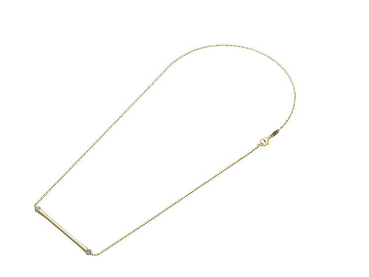 Immagine di Collana Chimento Donna in Oro Giallo e Diamanti 1G14200B12