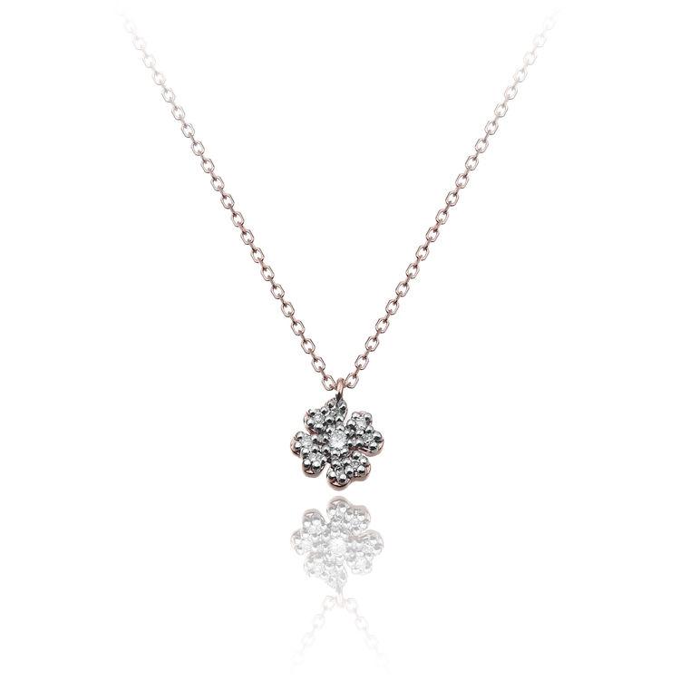 Immagine di Collana Chimento Donna in Oro Rosa e Diamanti 1G09614BB6