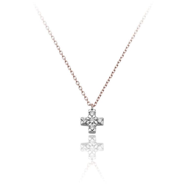 Immagine di Collana Chimento Donna in Oro Rosa e Diamanti 1G09610BB6