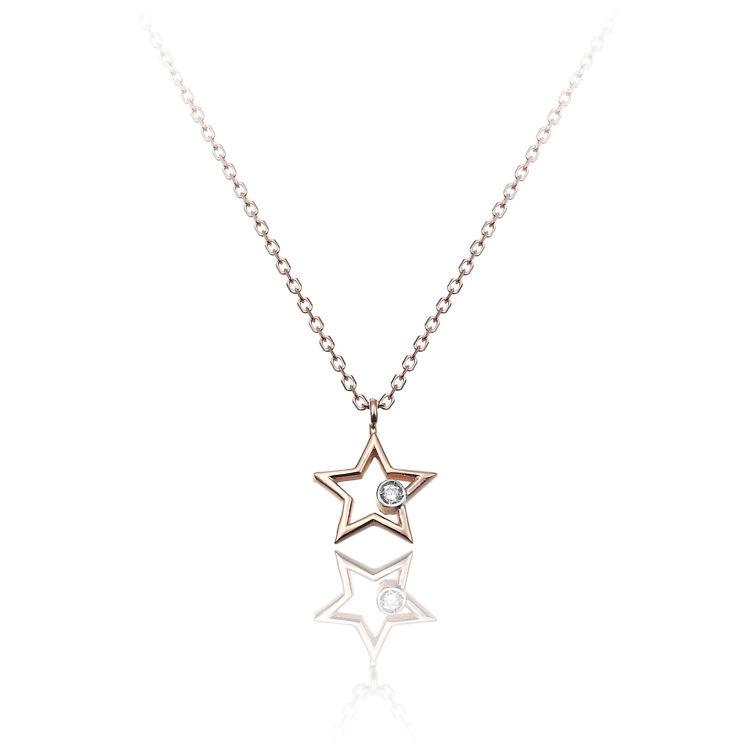 Immagine di Collana Chimento Donna in Oro Rosa e Diamanti 1G09671B16