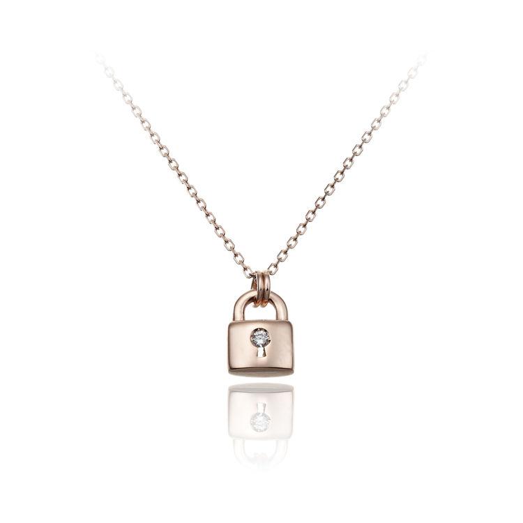 Immagine di Collana Chimento Donna in Oro Rosa e Diamanti 1G09652B16