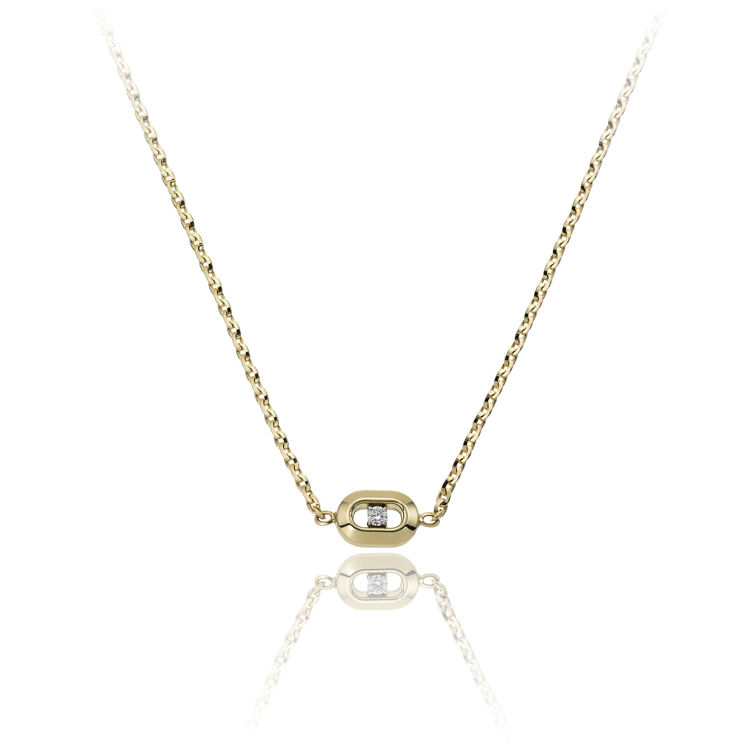 Immagine di Collana Chimento Double Optima Donna in Oro Giallo e Diamante 1G10260B11