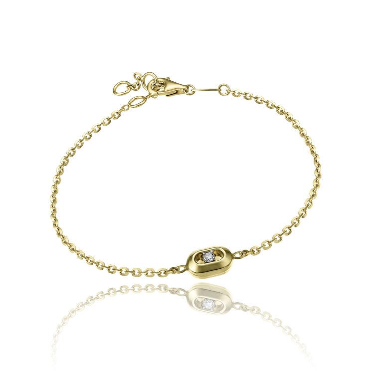 Immagine di Bracciale Chimento Donna Double Optima in Oro Giallo e Diamante cod.1B10260B11190