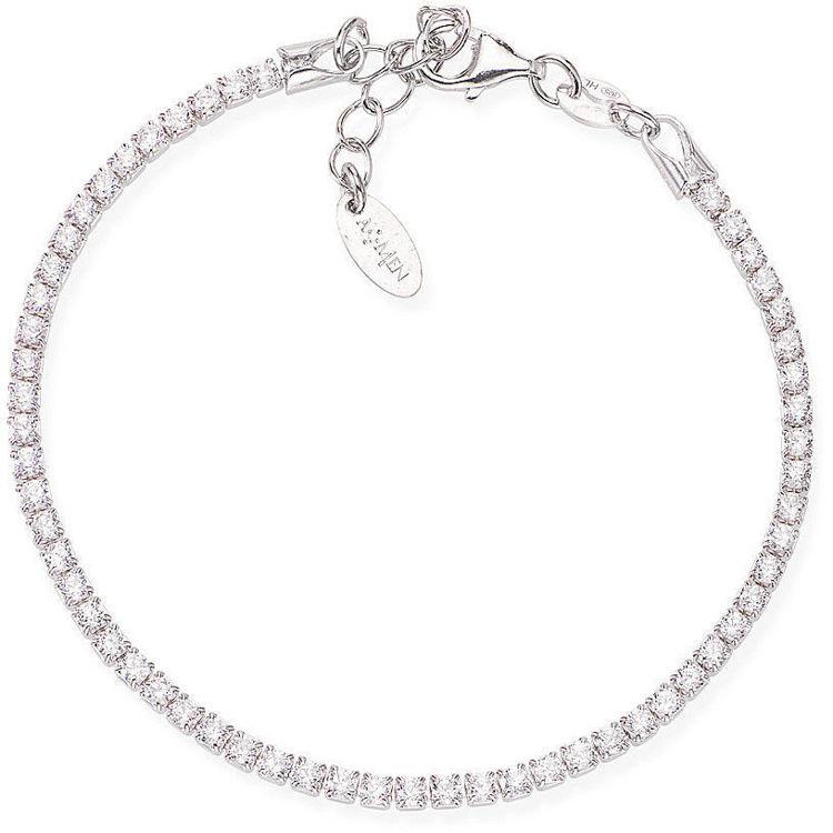 Bracciale Tennis In Argento Silver