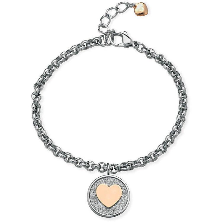 Immagine di Bracciale Donna Ops Objects Glitter Coin Con Charm Cuore | OPSBR-599