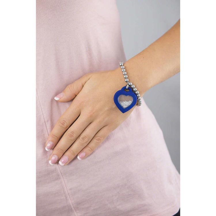 Immagine di Bracciale Donna Ops Objects Con Ciondolo Cuore Blu | OPSBR-344