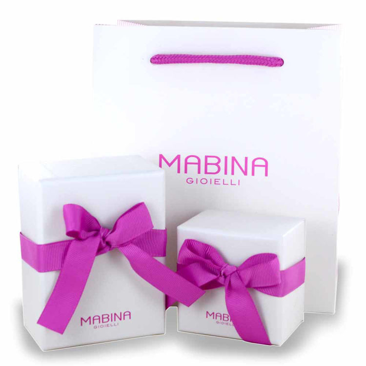 Immagine di Bracciale Mabina Tennis In Argento E Zirconi Multicolor | 533330