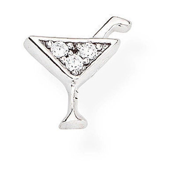 Immagine di Mono Orecchino Donna Cocktail In Argento Gioielli Amen | EB4