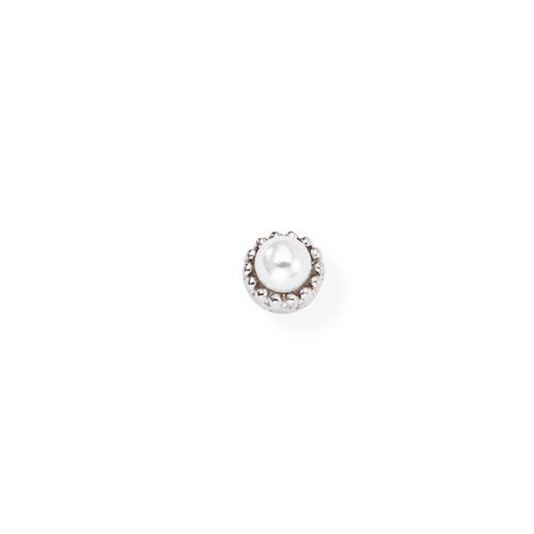 Immagine di Mono Orecchino Perla In Argento Gioielli Amen | EB12