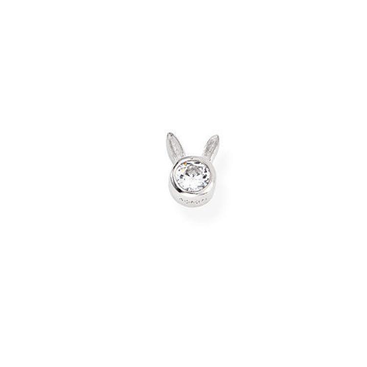 Immagine di Mono Orecchino Coniglio In Argento Gioielli Amen | EB9