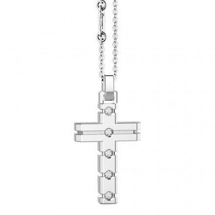 Immagine di Collana Uomo Croce In Argento Gioielli Zancan Insignia 925 |  ESC048