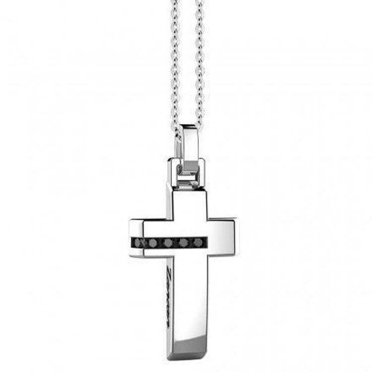 Immagine di Collana Uomo Croce In Argento Gioielli Zancan Insignia 925 |  ESC010
