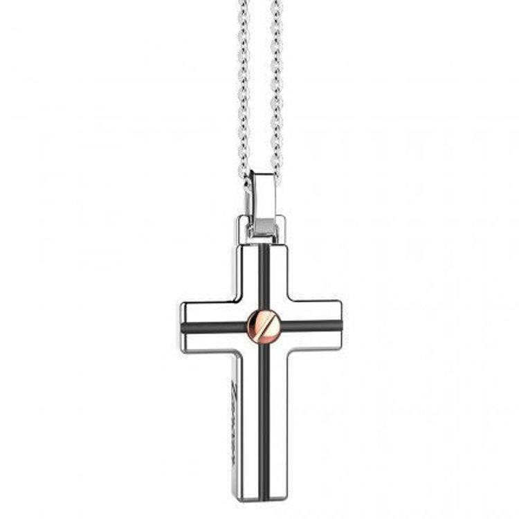 Immagine di Collana Uomo Croce In Argento Gioielli Zancan Insignia 925 |  ESC009R